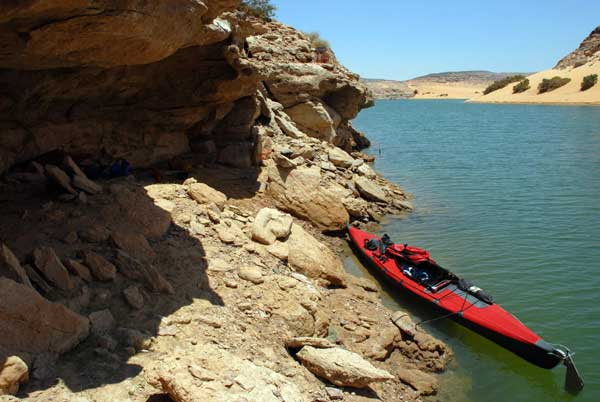 Kayaking Lake Nasser from Wadi Halfa to Abu Simbel - adventurer Jason Lewis